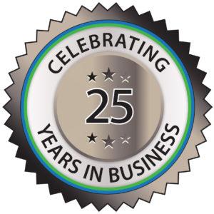 Waverly Construction 25 Year badge